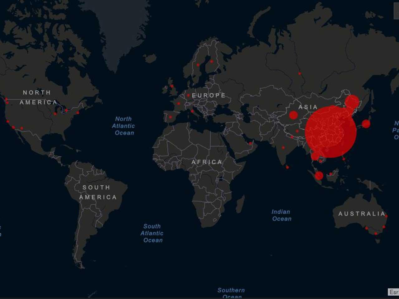 Coronavirus Karte Der Infizierten