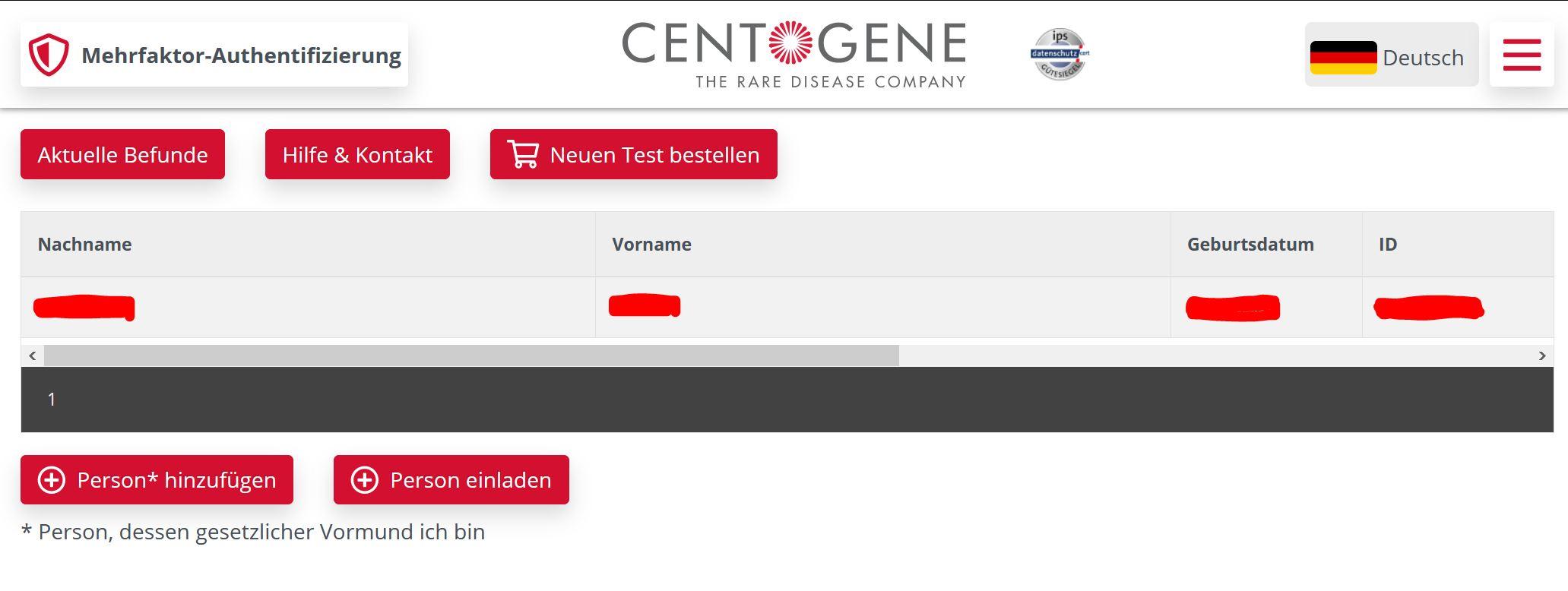 Centogene Corona Test
