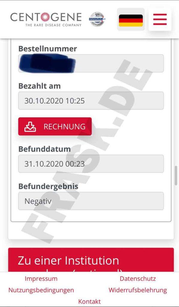 Corona Test Befund Frankfurt Flughafen